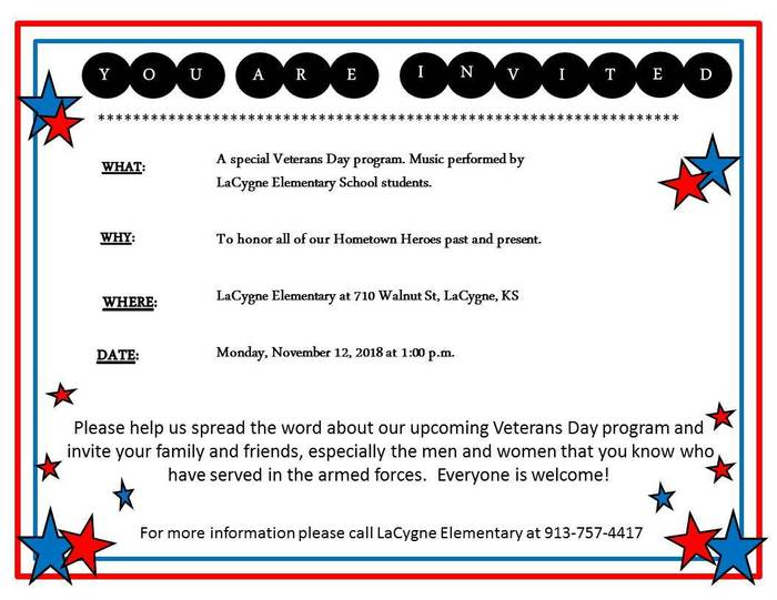 LES Veteran's Day Save the Date